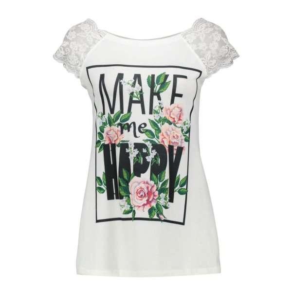 خرید 30 مدل تیشرت زنانه از جنس پنبه و پارچه + قیمت