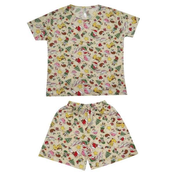 خرید 30 مدل ست تیشرت و شلوارک دخترانه فانتزی + قیمت مناسب